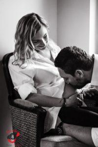 Domowa sesja ciążowa - FotoAno
