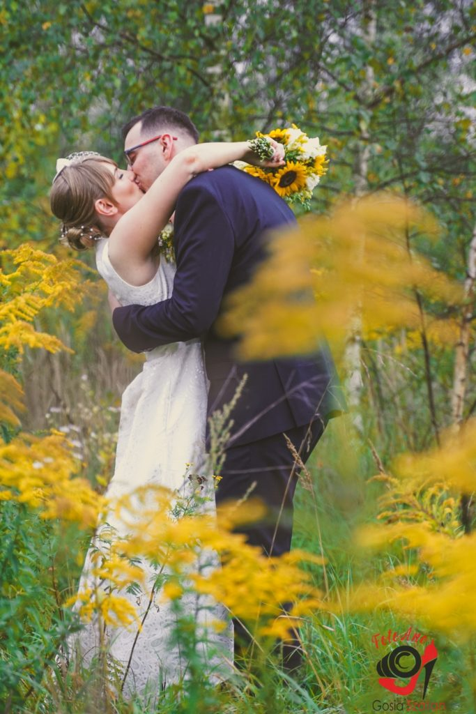 Jesienna sesja ślubna